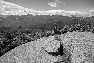 Photograph - The Peak Of Big Slide Mountain Keene Valley Adirondacks Black And White by Toby McGuire