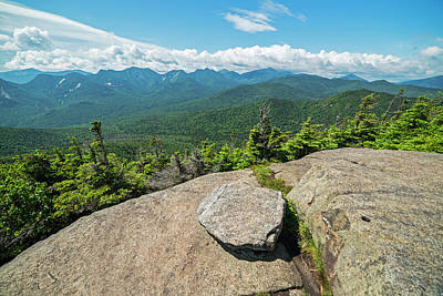 Photograph - The Peak Of Big Slide Mountain Keene Valley Adirondacks by Toby McGuire