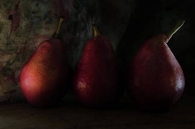 Photograph - The  Pear Drama V2 by Rae Ann  M Garrett