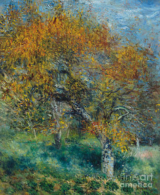 Rust Painting - The Pear Tree by Pierre Auguste Renoir