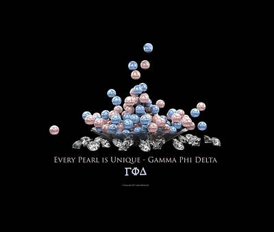 Digital Art - The Pearls Of Gamma Phi Delta by William Ladson
