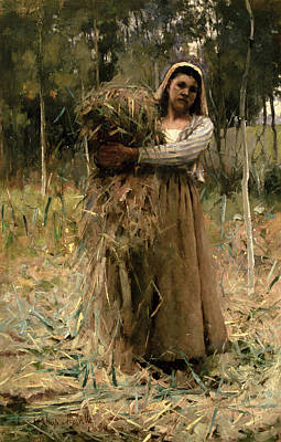 Bundle Painting - The Peasant Girl  by Arthur Melville