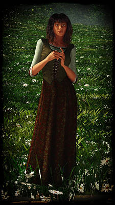 Digital Art - The Peasant Girl... by Tim Fillingim