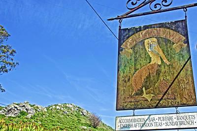 Photograph - The Pelican Inn Sign Near Muir Beach In Muir Woods National Monument, California by Ruth Hager