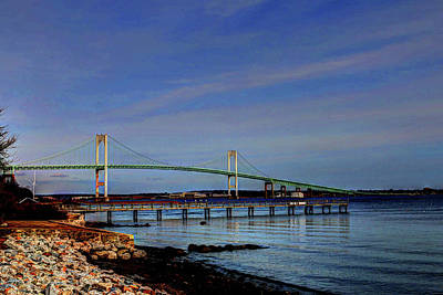 Photograph - The Pell Bridge Newport Ri by Tom Prendergast