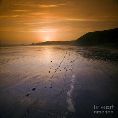 The Pembrokeshire Sunset Art Print by Angel  Tarantella