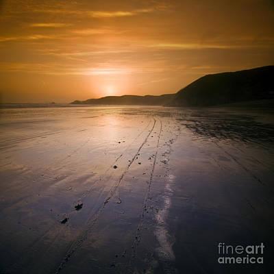 The Pembrokeshire Sunset Art Print by Angel Ciesniarska