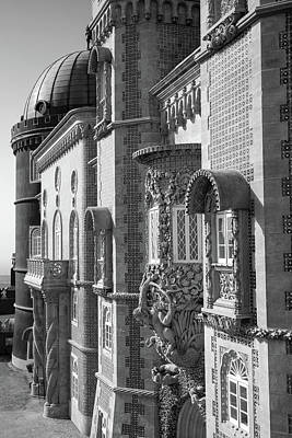 Photograph - The Pena Palace In Sintra In Black And White by For Ninety One Days