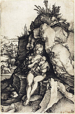 Drawing - The Penance Of Saint John Chrysostom by Albrecht Durer