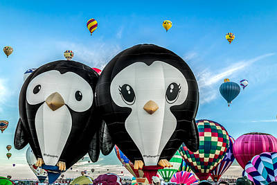 Photograph - Puddles And Splash - The Penguin Hot Air Balloons by Ron Pate