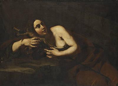 Caravaggio Painting - The Penitent Magdalen by Cecco del Caravaggio