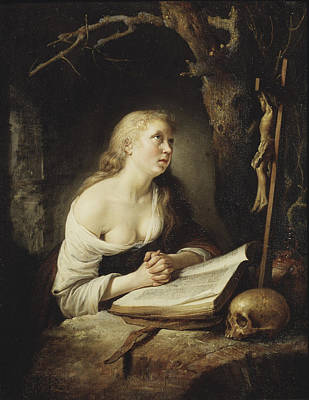 Painting - The Penitent Magdalen by Gerrit Dou