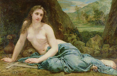 St Mary Magdalene Painting - The Penitent Magdalene by Paul Baudry