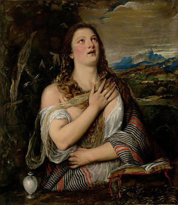 Forgiven Painting - The Penitent Magdalene by Tiziano Vecellio