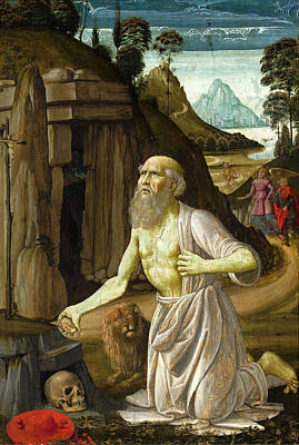 Old Man And The Sea Painting - The Penitent St Jerome by Bastiano Mainardi