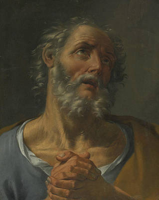 Peter Painting - The Penitent St Peter by Donato Creti