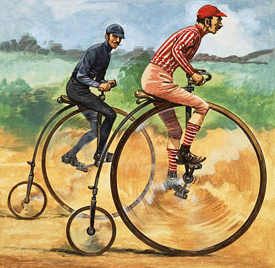 Cycles Painting - The Penny Farthing by Peter Jackson