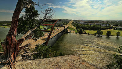 Photograph - The Pennybacker Bridge by Judy Vincent