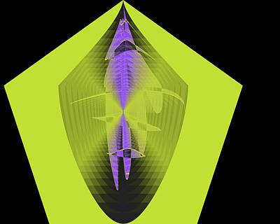 Digital Art - The Pentagon by Cathy Harper