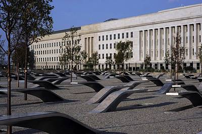 Pentagon Photograph - The Pentagon Memorial Honoring The 184 by Everett