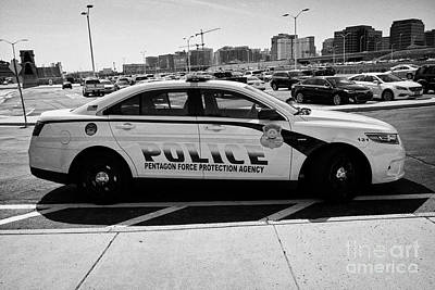 Patrol Cars Photograph - the Pentagon police force protection agency patrol car Washington DC USA by Joe Fox