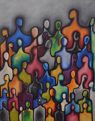 Alleyvision Painting - The People-unity by Heather Alley
