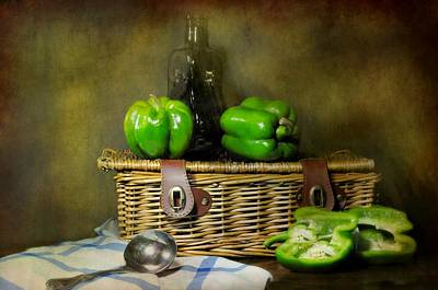 Table Wine Photograph - The Pepper Basket by Diana Angstadt