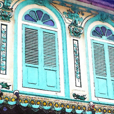 Lantern Mixed Media - The Peranakan Building  by Stacey Chiew