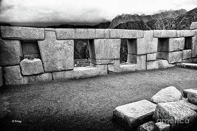Photograph - The Perfect Carved Boulders Of Machu Picchu  by Rene Triay Photography