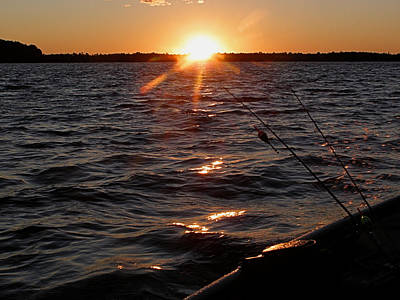 Art Print featuring the photograph The Perfect Ending - After A Good Day Of Fishing by Angie Rea