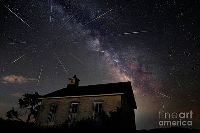 Photograph - The Perseid Meteor Shower At Lower Fox Creek School  by Keith Kapple