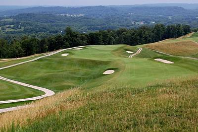 The Pete Dye Course At French Lick Resort Art Print by Ann and John Cinnamon