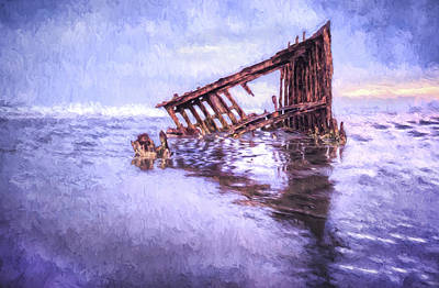 Peter Iredale Photograph - A Stormy Peter Iredale by Kay Brewer