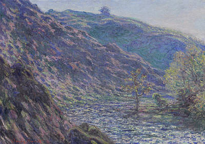 Mountain Valley Painting - The Petite Creuse River by Claude Monet