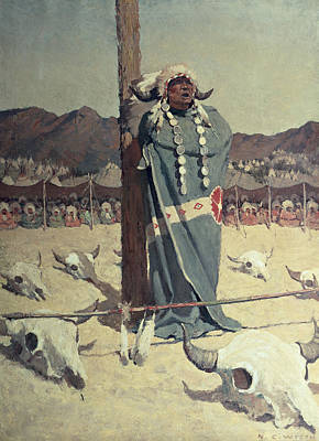 Cow Skull Painting - The Petition by Newell Convers Wyeth