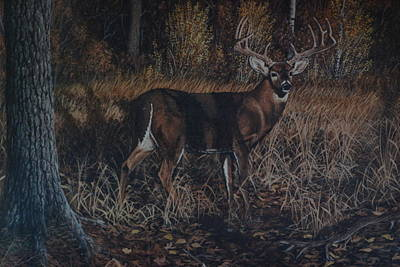 Painting - The Phantom Buck by Michael Wawrzyniec