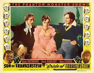 Frankenstein Mixed Media - The Phantom Monster Show 1935 by Mountain Dreams