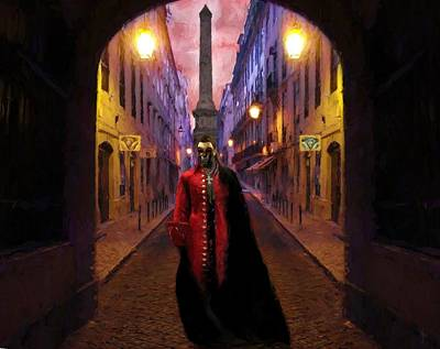 Mask Photograph - The Phantom Of Lisbon  by Daniel  Arrhakis