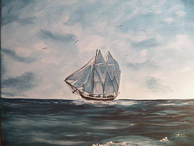 The Phantom Of The Sea Art Print by Laurie Kidd