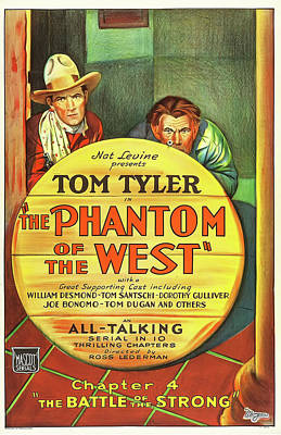 Cowboy Mixed Media - The Phantom Of The West 1931 by Mountain Dreams
