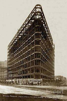Photograph - The Phelan Building 760 Market St.  Circa 1908 by California Views Mr Pat Hathaway Archives