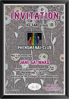 Invitations Mixed Media - The Phenomenal Cub - Invitation by Jane Gatward