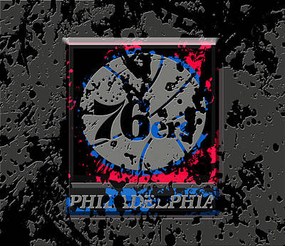 The Philadelphia 76ers 1a Art Print by Brian Reaves