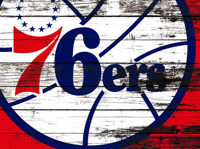 Dr. J Mixed Media - The Philadelphia 76ers 3e       by Brian Reaves