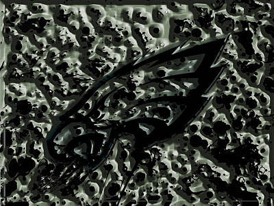 Financial Mixed Media - The Philadelphia Eagles 1a by Brian Reaves