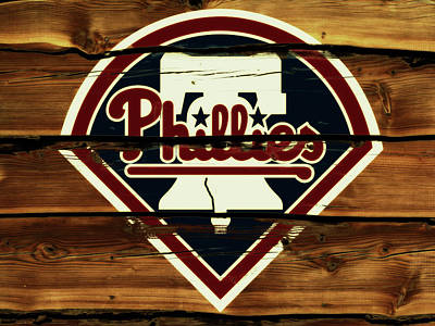 New York Mets Mixed Media - The Philadelphia Phillies 1w                     by Brian Reaves