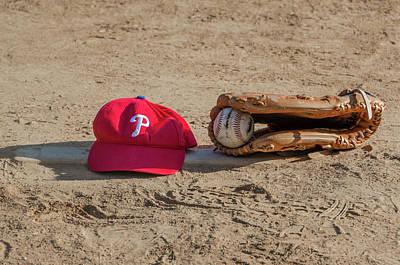 Baseball. Philadelphia Phillies Photograph - The Philadelphia Phillies Baseball by Bill Cannon