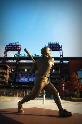 Stadium Digital Art - The Phillies - Mike Schmidt by Bill Cannon