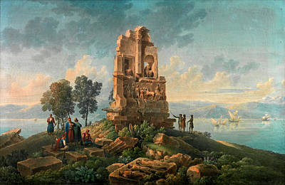 Cassas Drawing - The Philopappou Monument. Athens by Louis-Francois Cassas