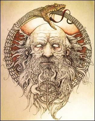 Plato Drawing - The Philosopher by Cliff Franks